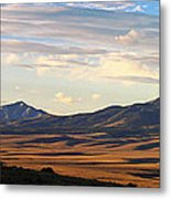 Valley Shadows Snowy Peaks Metal Print
