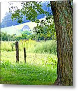 Valley View Along Flat Creek Rd Metal Print