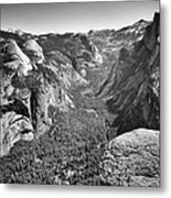 Valley View At Glacier Point Metal Print