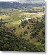 Valley View Of  Atherton Tableland Metal Print