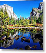Valley View Reflection Yosemite National Park Metal Print by Scott McGuire