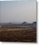 Valley With Flat-top Mountains Metal Print