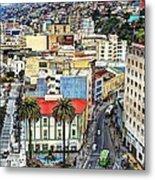 Valparaiso A Color Palette City Metal Print