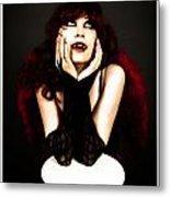 Vamp Girl Metal Print