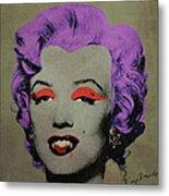 Vampire Marilyn Variant 3 Metal Print