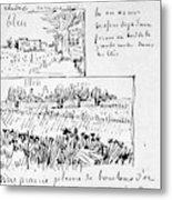 Van Gogh Letter, 1888 Metal Print