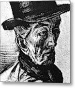 Man With Top Hat Metal Print
