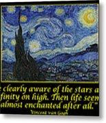 Van Gogh Motivational Quotes - Starry Night II Metal Print