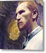Van Gogh Portrait Metal Print