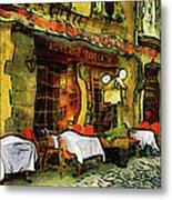 Van Gogh Style Restaurant Metal Print