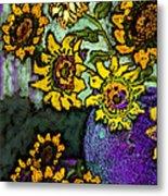 Van Gogh Sunflowers Cover Metal Print
