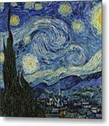 Van Gogh The Starry Night Metal Print