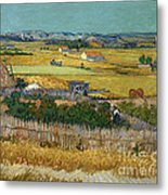 Van Gogh Wheatfield 1888 Metal Print