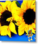 Van Gogh's Sunflower Miniature Art Metal Print