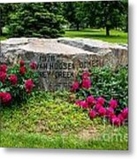Van Hoosen Jones Stoney Creek Entrance Stone Metal Print
