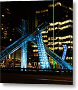 Vancouver - 2010 Olympic Cauldron Lit At Night Metal Print
