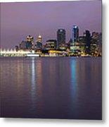 Vancouver Bc City Skyline At Dawn Metal Print