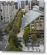 Vancouver Bc Downtown Cityscape View Metal Print