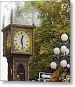 Vancouver Bc Historic Gastown Steam Clock Metal Print