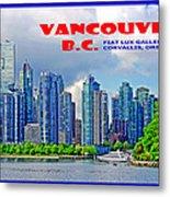 Vancouver Bc Iv Metal Print