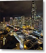 Vancouver Bc Robson Street Cityscape Metal Print