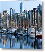 Vancouver Bc Skyline Along False Creek Metal Print