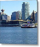 Vancouver Bc Skyline Panorama Canada. Metal Print by Gino Rigucci