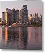 Vancouver Bc Waterfront Condominiums Metal Print