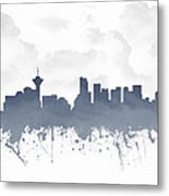 Vancouver British Columbia Skyline - Blue 03 Metal Print