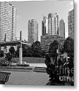 Vancouver Canada Skyscrapers And Park Metal Print