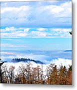 Vancouver Fog From Burnaby Mtn Metal Print