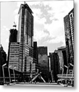 Vancouver Olympic Cauldron- Black And White Photography Metal Print