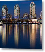 Vancouver Postcard Metal Print