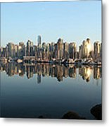 Vancouver Reflected Metal Print