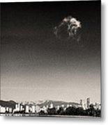 Vancouver Skyline Acloud Over English Bay Metal Print