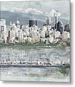 Vancouver Skyline Metal Print by Maryam Mughal