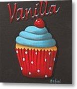 Vanilla Cupcake Metal Print