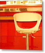 Vanity Red Metal Print by Vishakha Bhagat
