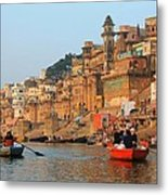 Varanasi From The Ganges River Metal Print