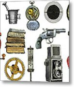 Various Object - Signs - Icons Metal Print