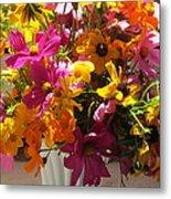 Vase Flowers Metal Print