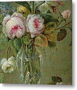 Vase Of Flowers On A Table Metal Print