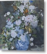 Vase Of Flowers - Reproduction Metal Print