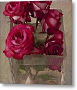 Vase Of Roses Metal Print