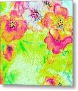 Vase Of Spring Flowers Metal Print