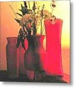 Vases And Flowers 1 Metal Print