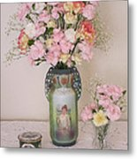 Vases Pink Cast And Trinket Box Metal Print