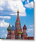 Vasily The Blessed Cathedral And The Red Square Of Moscow - Featured 3 Metal Print