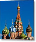 Vasily The Blessed Cathedral On Moscow Red Square - Featured 2 Metal Print