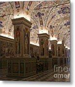 Vatican Museum Vaulted Ceiling Artwork Metal Print
